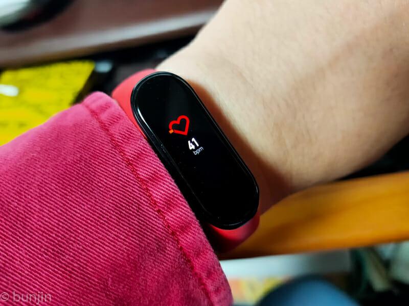 Xiaomi MI Band 4 心拍計