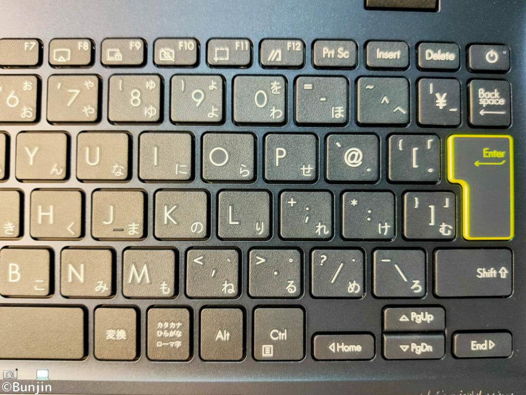 ASUS E210MAキーボード右側